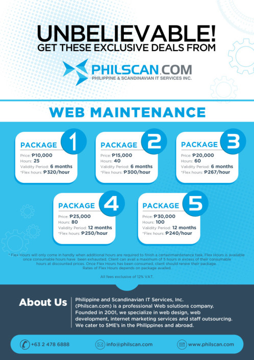 Philscan Flyer design